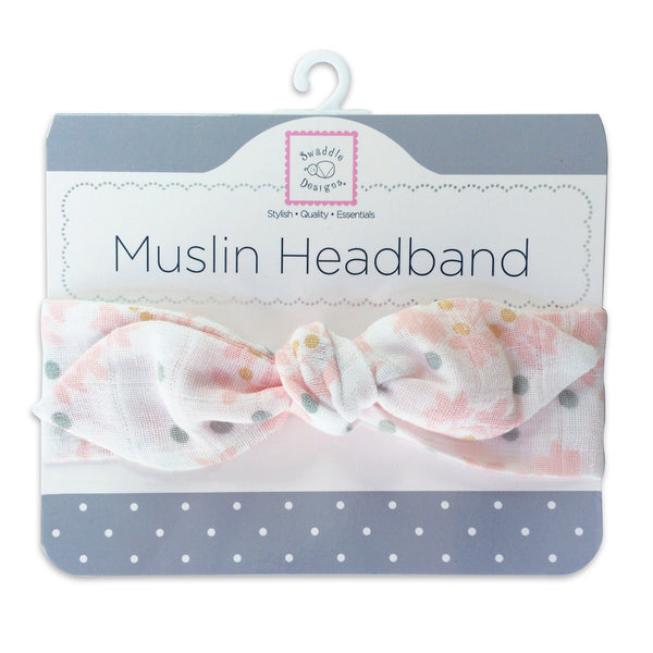 Muslin Headband - Heavenly Floral with Shimmer