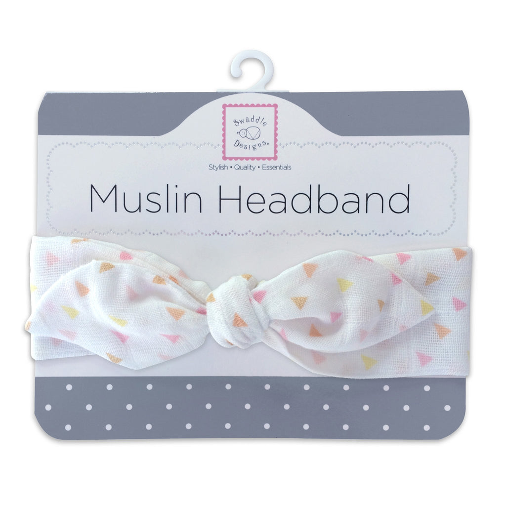 Muslin Headband - Tiny Triangles