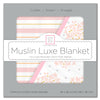 Muslin Luxe Blanket - Heavenly Floral Shimmer