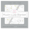 Muslin Luxe Blanket - Little Lambs, Sterling