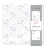 Muslin Swaddle Single - Little Lambs and Stars Sterling