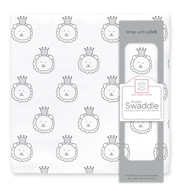 Muslin Swaddle Single - Royal Lion