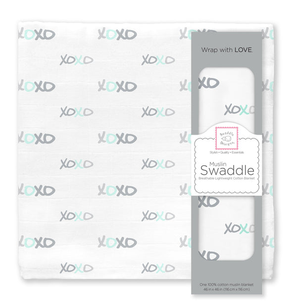 Muslin Swaddle Single - SeaCrystal XOXO