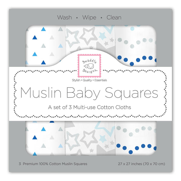 Muslin Squares - Starshine Shimmer (Set of 3)