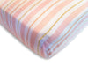 Muslin Fitted Crib Sheet - Stripes Shimmer
