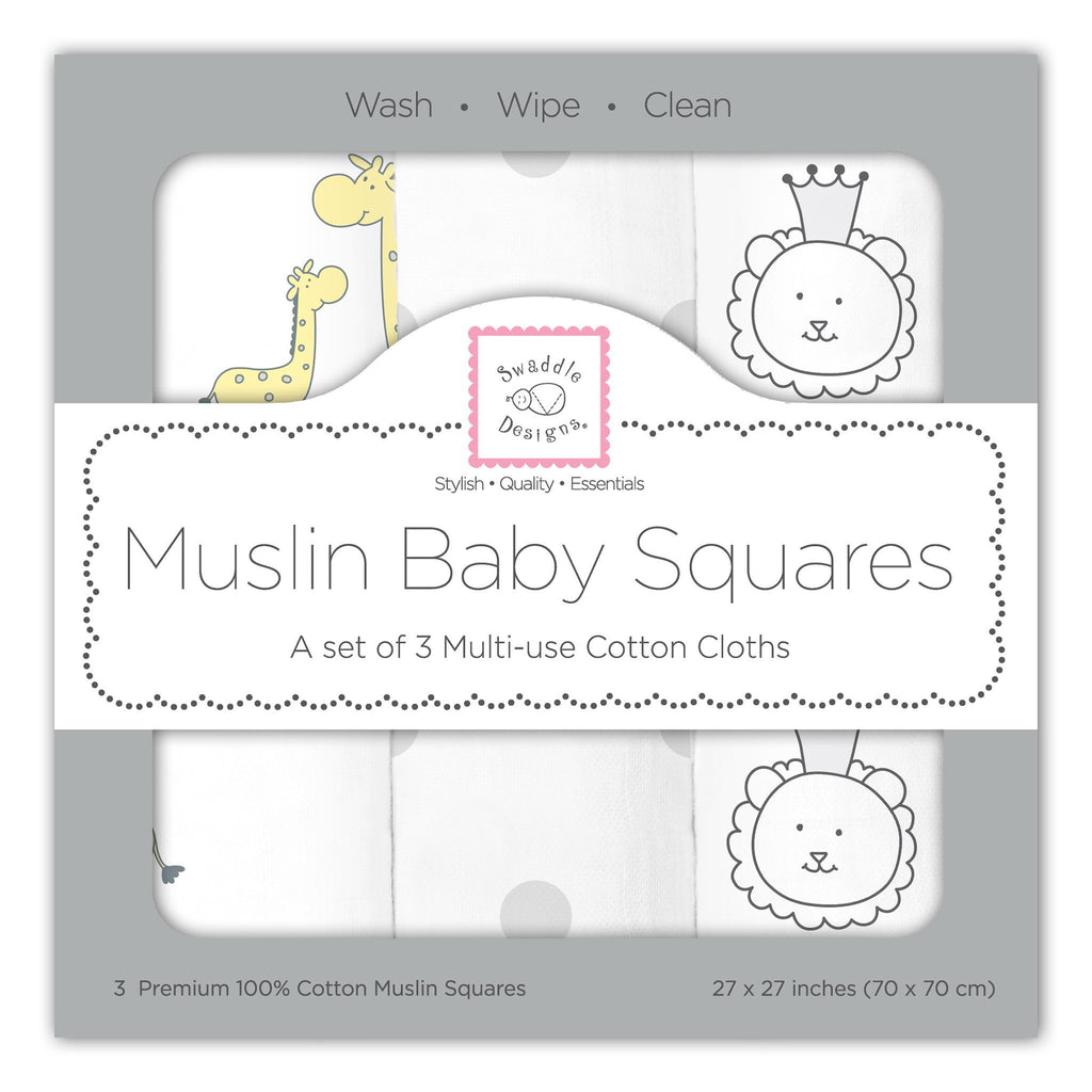 Muslin Squares - Jungle Friends