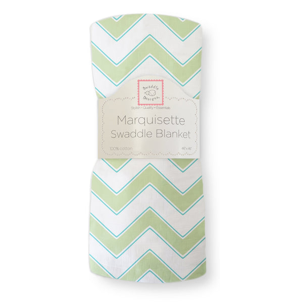 Marquisette Swaddle Blanket - Chevron