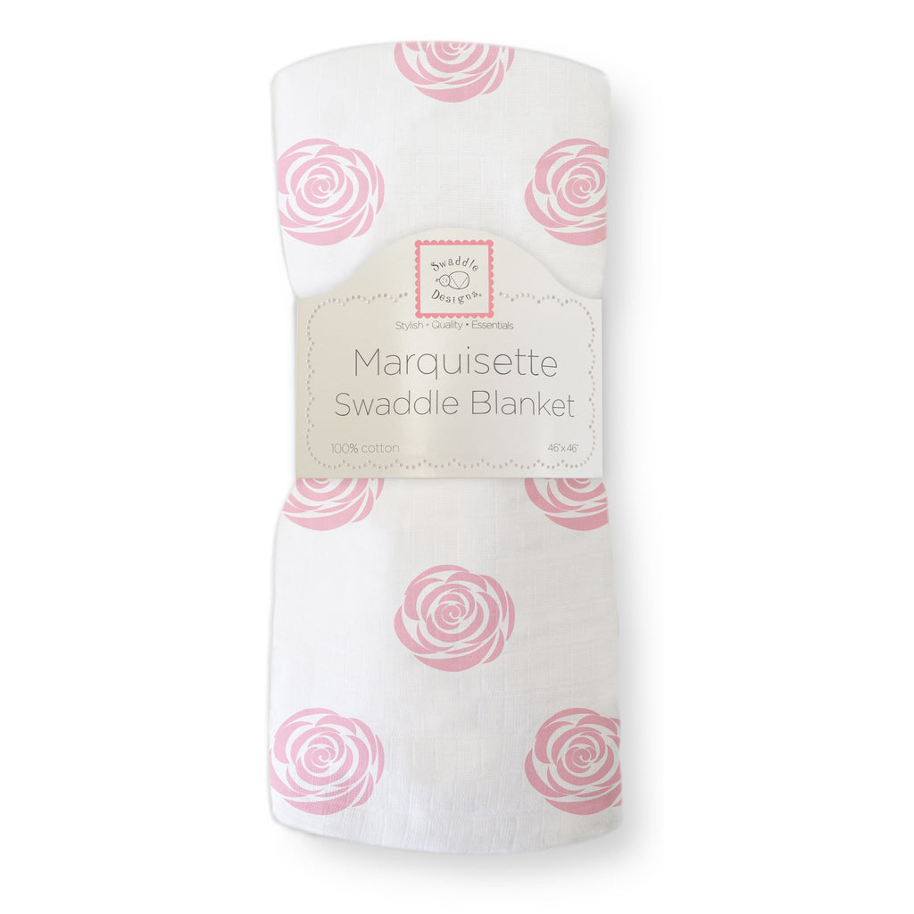 Marquisette Swaddle Blanket - Rose