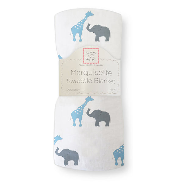 Marquisette Swaddle Blanket - Safari Fun