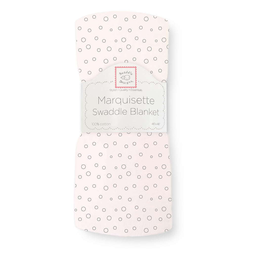 Marquisette Swaddle Blanket - Bubble Dots