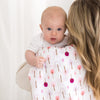 Marquisette Swaddle Blanket - Cute and Calm, Very Berry