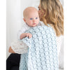 Marquisette Swaddle Blanket - Brown Mod Circles, Pastel Blue