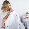 Marquisette Swaddle Blankets - Watercolor Ice Cream Cones & Multi-Dots