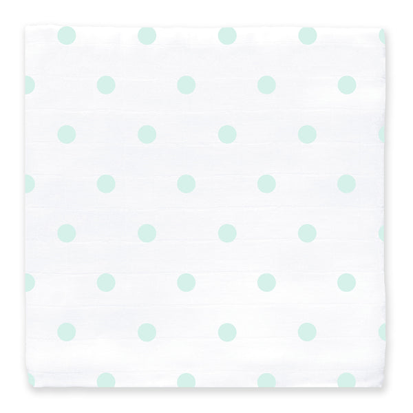 Muslin Swaddle Single - SeaCrystal Dots