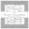 Muslin Swaddle Single - Hedgehog Shimmer