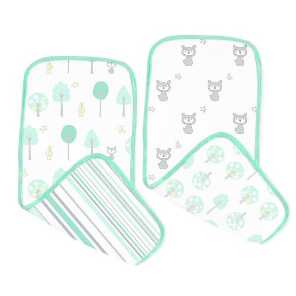 Muslin Baby Burpies - Woodland Fun (Set of 2)