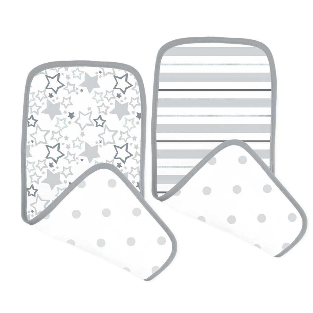 Muslin Baby Burpies - Shimmer (Set of 2)