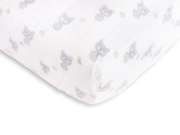 Muslin Fitted Crib Sheet - Fox + Star