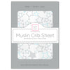 Muslin Fitted Crib Sheet - Starshine Shimmer, Blue
