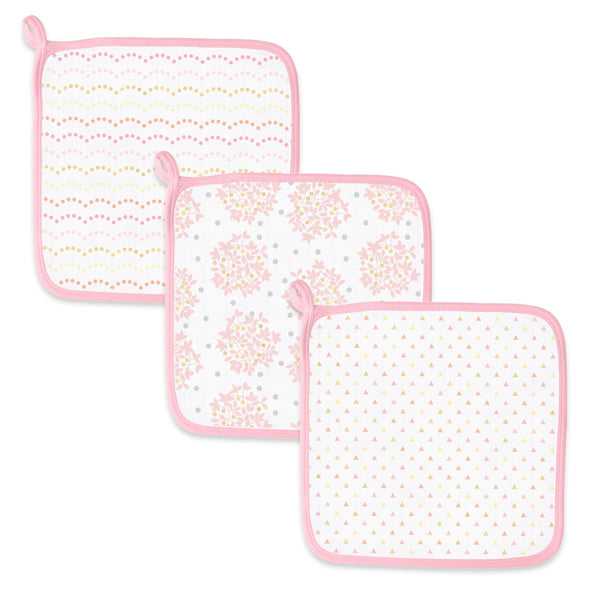 Muslin Washcloth - Shimmer (Set of 3)