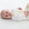 Muslin zzZipMe Sack  - Mama and Baby Giraffe, Yellow