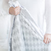 Stroller Blanket - Pastel & Sterling Dots, Pastel Blue, Large, 30x40 inches