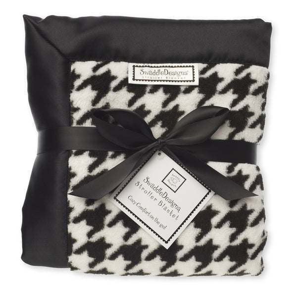 Stroller Blanket - Black Puppytooth