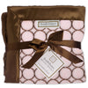 Stroller Blanket - Brown Mod Circles, Pastel Pink, Large, 30x40 inches