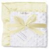 Stroller Blanket - Plush Dot with Baby Velvet, Pastel Yellow, Large, 30x40 inches