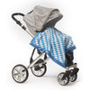 Stroller Blanket - Forever Diamond, Blue, Large, 30x40 inches