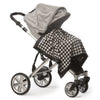 Stroller Blanket - Black Puppytooth, Black, Large, 30x40 inches