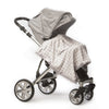 Stroller Blanket - Sterling Puppytooth, Sterling, Large, 30x40 inches