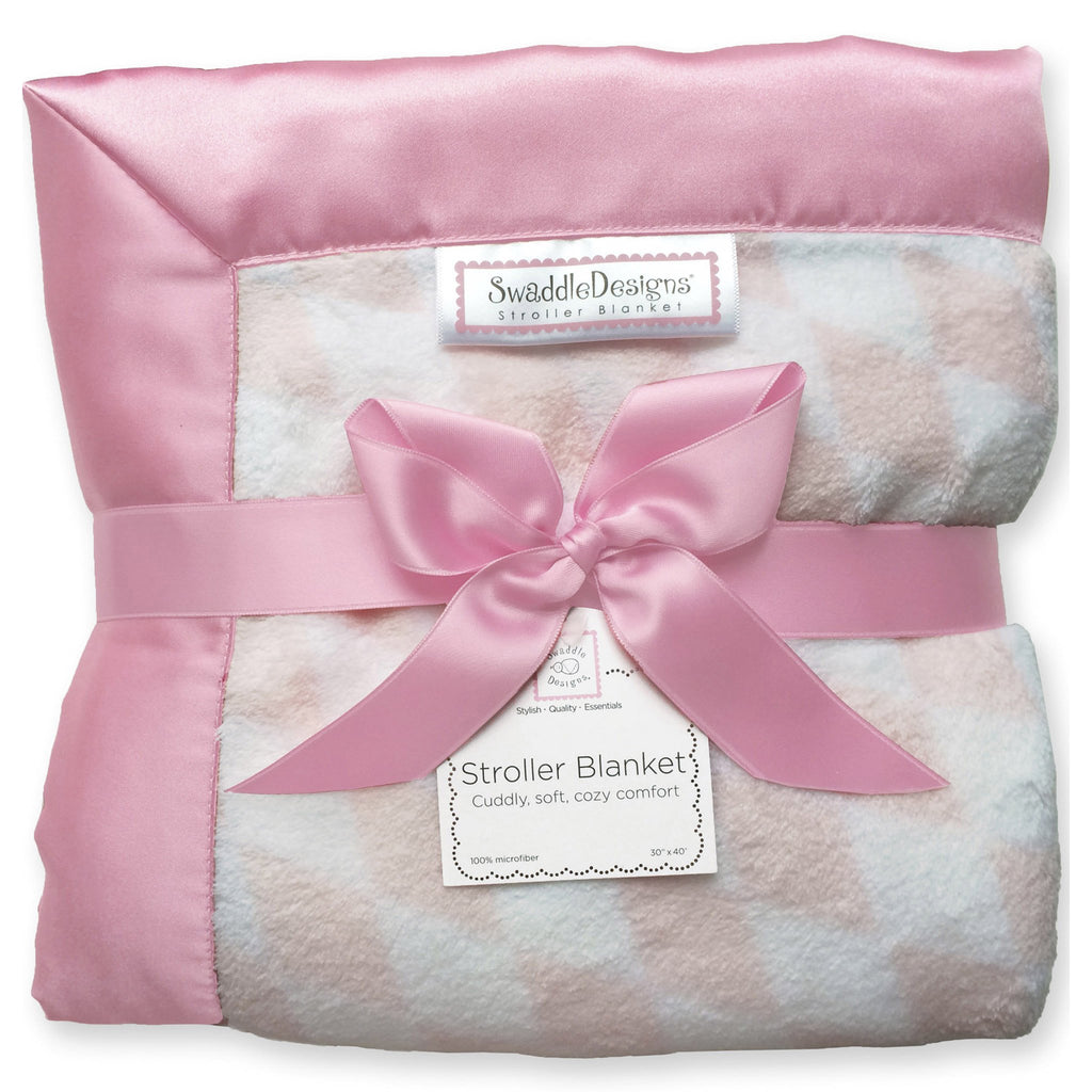 Stroller Blanket - Forever Diamond, Pink, Large, 30x40 inches