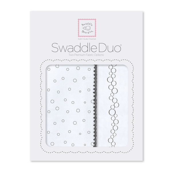 SwaddleDuo - Bubble Dots and Champagne