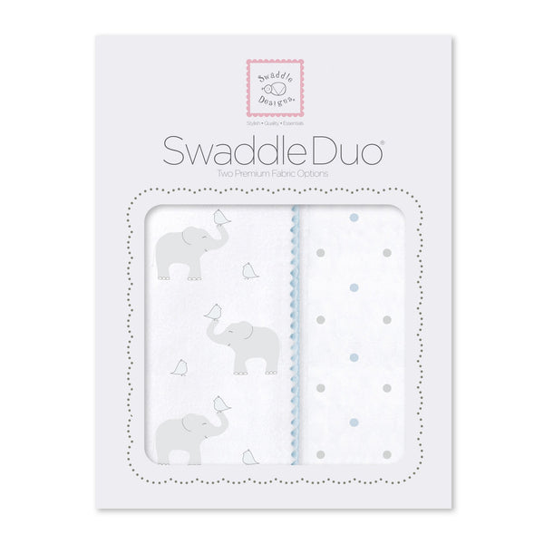 SwaddleDuo - Elephant & Chickies