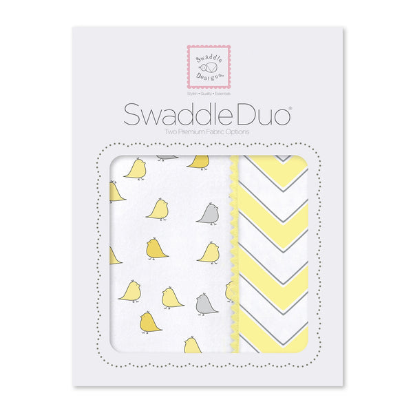 SwaddleDuo - Little Chickies & Chevron
