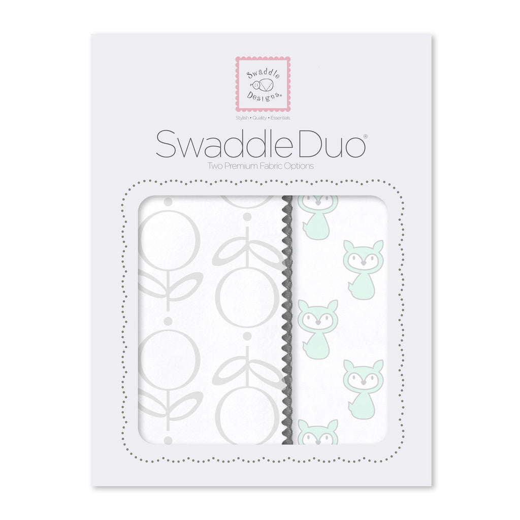 SwaddleDuo - Little Fox (Set of 2) SeaCrystal