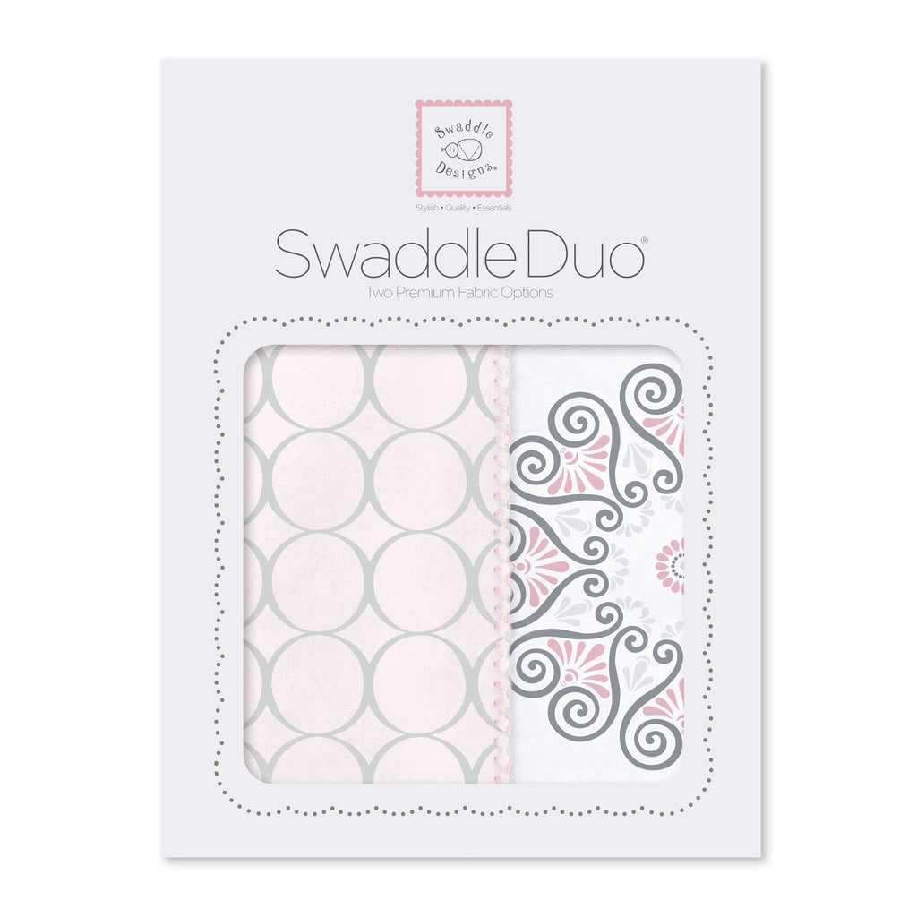 SwaddleDuo - Mod Medallions (Set of 2), Pink