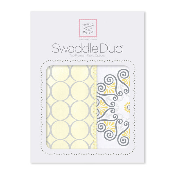 SwaddleDuo - Mod Medallions (Set of 2), Yellow