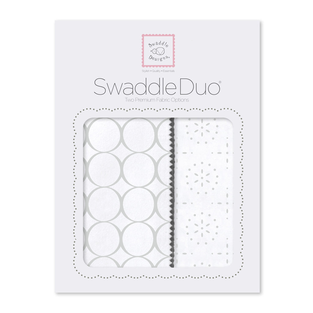 SwaddleDuo - Geo Floral Chevron (Set of 2)