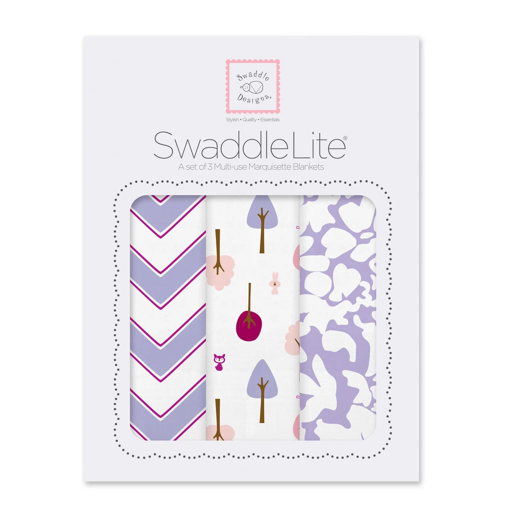 SwaddleLite - Chevron, Cute + Calm, Lush, Lavender