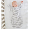 Flannel Fitted Crib Sheet - Brown Polka Dots, Lime