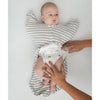 Transitional Swaddle Sack  - Arms Up 1/2-Length Sleeves & Mitten Cuffs, Stripes, Heather Gray