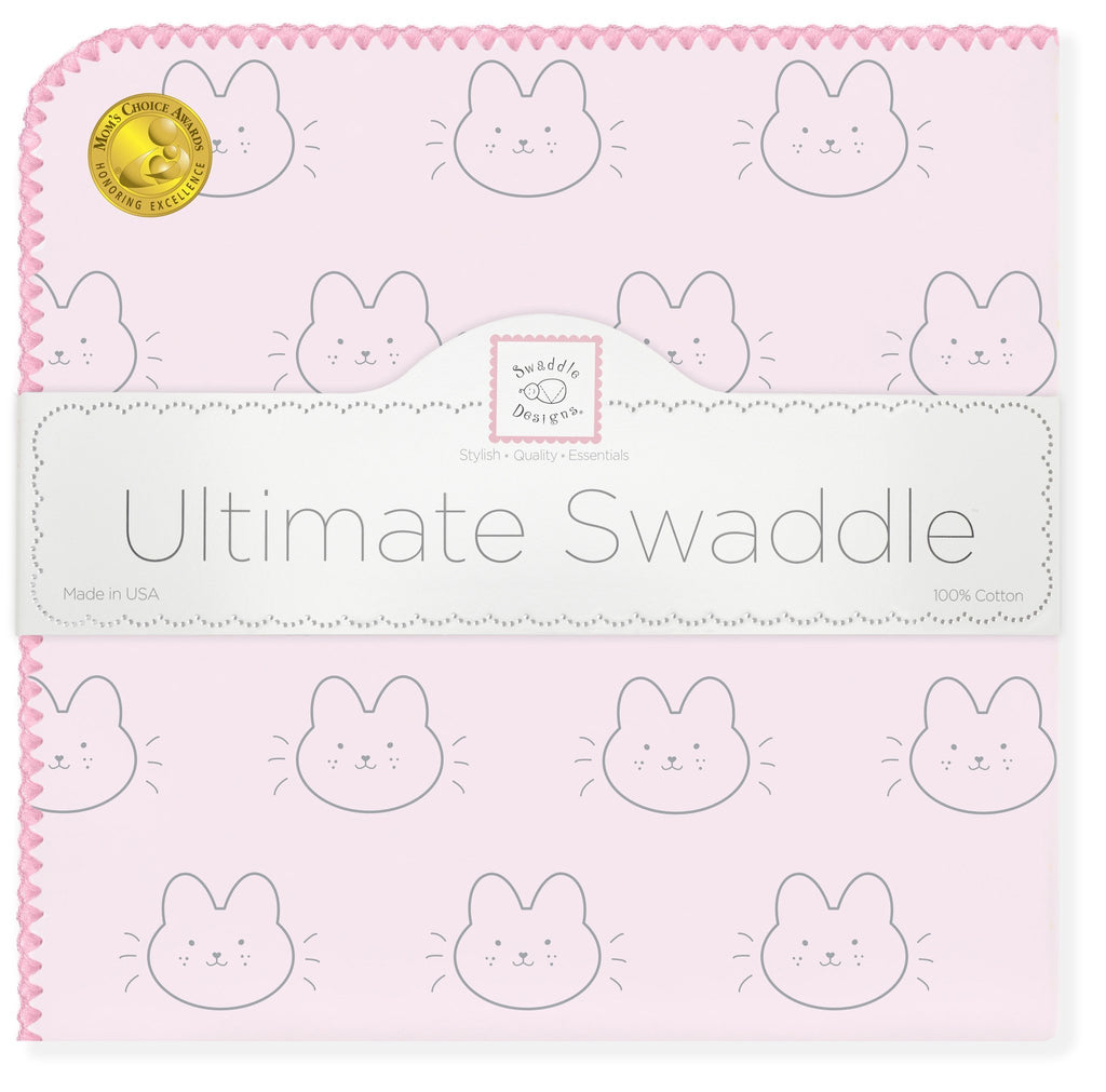 Ultimate Swaddle Blanket - Baby Bunny, Pink - Customized