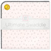 Ultimate Swaddle Blanket - Soft Black Bubble Dots, Soft Pink
