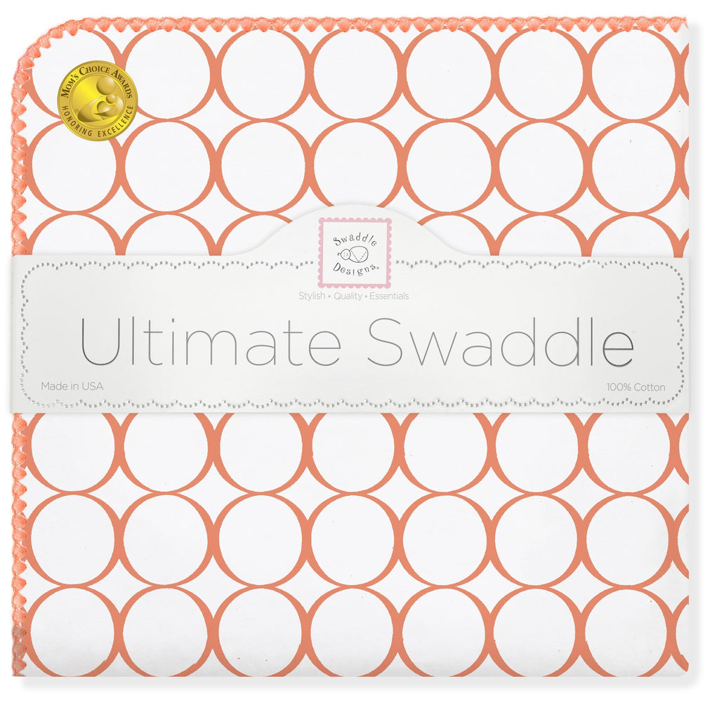 Ultimate Swaddle - Mod Circles on White