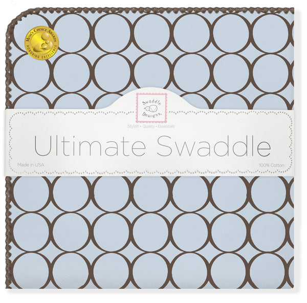 Ultimate Swaddle - Brown Mod Circles