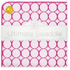 Ultimate Swaddle Blanket - Jewel Mod Circles, Very Berry