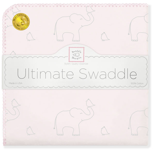 Ultimate Swaddle - Sterling Deco Elephants