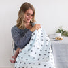 Ultimate Swaddle and 2-Layer Cotton Face Mask Set - Polka Dots Sterling